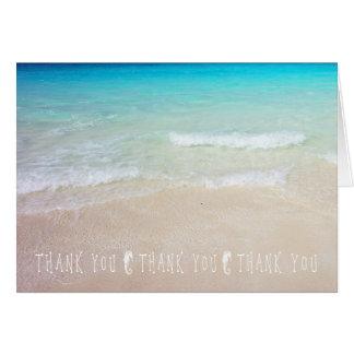 Seahorses Tropical Ocean Thank You Note Cards