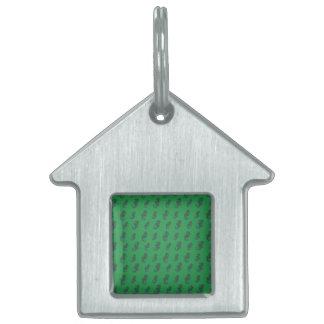 Seahorses verdes placa de mascota