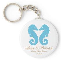 Seahorses Wedding Favor Personalized Key Ring