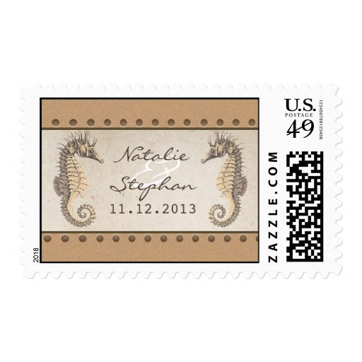postage stamps for wedding invitations seahorses wedding invitations postage stamps zazzle 6730