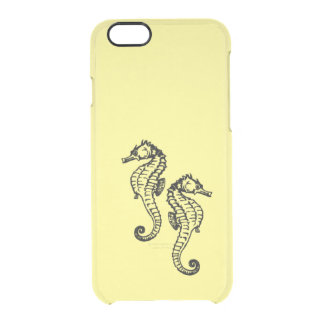 Seahorses Yellow Clear iPhone 6/6S Case