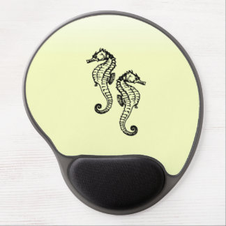 Seahorses Yellow Gel Mouse Pad