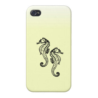 Seahorses Yellow iPhone 4 Cover