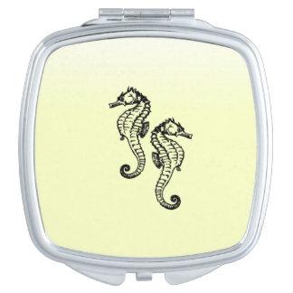 Seahorses Yellow Mirror For Makeup