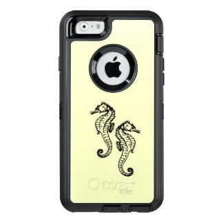 Seahorses Yellow OtterBox Defender iPhone Case