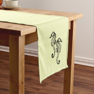 Seahorse Table Runners Zazzle - Seahorse coffee table