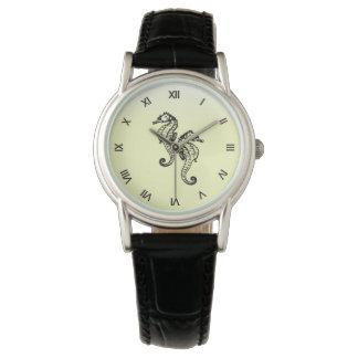 Seahorses Yellow Wrist Watch