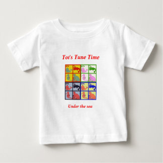 seahorsesmallcollage-1.png popart, Under the se... Baby T-Shirt
