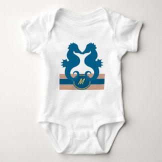 SeaKiss Monogrammed Baby Bodysuit