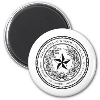 Seal 4 William Shea for Governor of Texas in 2014 Magnet