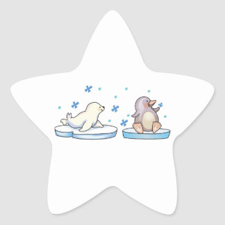 SEAL AND PENGUIN STAR STICKERS