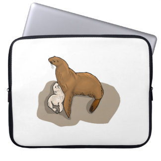 Seal And Seal Pup Computer Sleeve