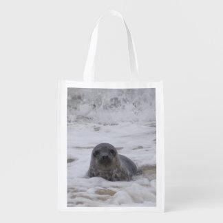 Seal - Animal Photo Print Reusable Grocery Bag