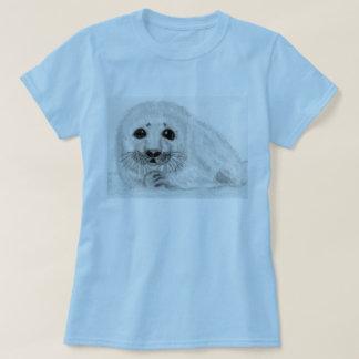 Seal baby pup Ladies Art t shirt birthday Christma