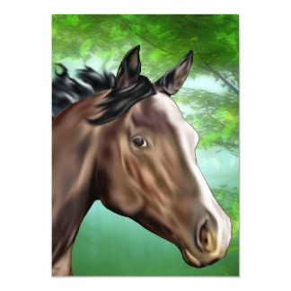 Seal Bay Thoroughbred Horse Art Print Card