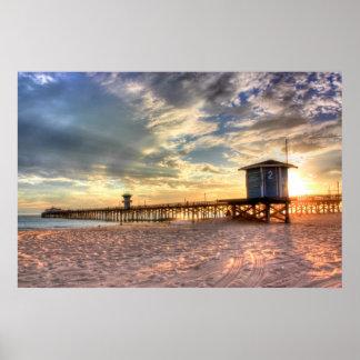 Seal Beach, CA canvas Poster