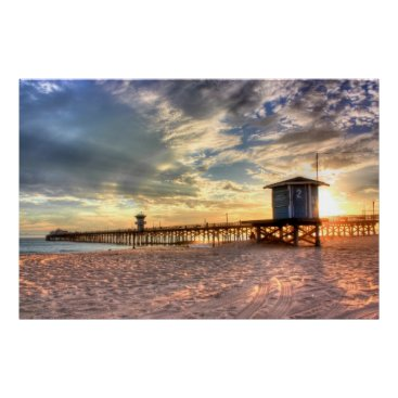 Beach Themed Seal Beach, CA canvas Poster