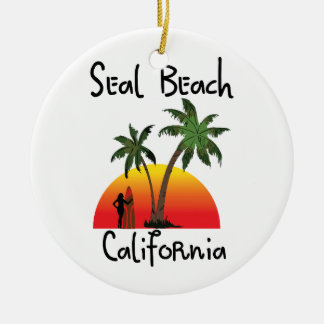 Seal Beach California Ceramic Ornament