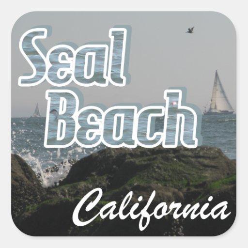 Seal Beach, California Square Stickers