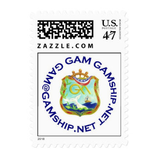 seal blue GAM Postage