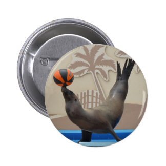 Seal (California Sea Lion) Pinback Buttons