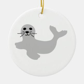 Seal Ceramic Ornament