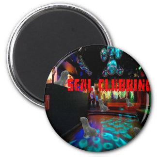 Seal Clubbing 2 Inch Round Magnet