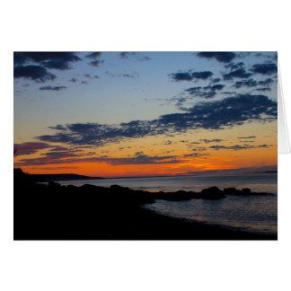 Seal Cove Sunrise, Grand Manan Greeting Card