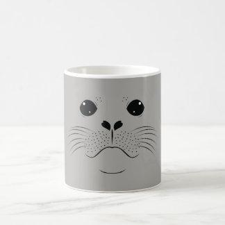 Seal face silhouette coffee mug