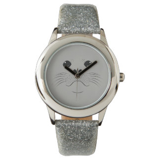 Seal face silhouette wrist watch