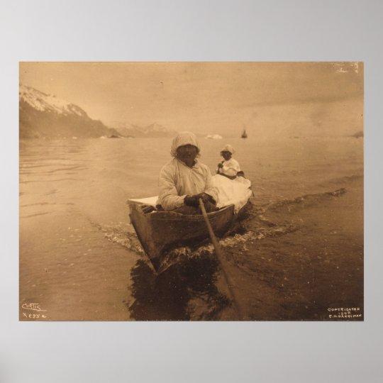 Seal hunters in Alaska – 1899 Poster