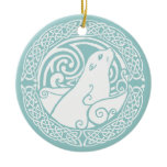 Seal in Snow Ceramic Ornament