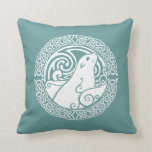 Seal in Snow Throw Pillow