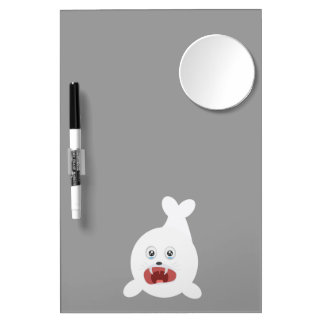 Seal is crying Zr2rw Dry Erase Board With Mirror