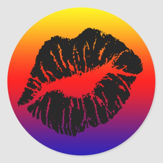 seal it with a kiss classic round sticker