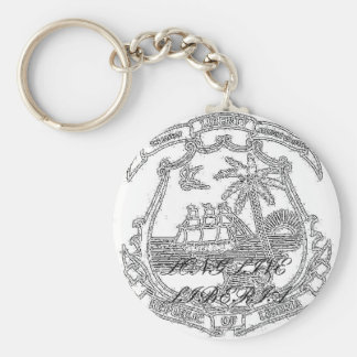 Seal, LONG LIVE LIBERIA Keychain