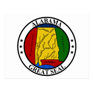 Seal of Alabama Postcard