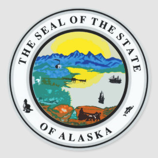 Seal of Alaska Classic Round Sticker