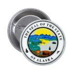Seal of Alaska Pinback Button