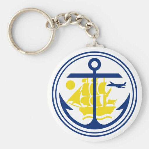 Seal of Anchorage Key Chains
