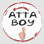Seal Of Approval Atta Boy Stickers - Atta Boy