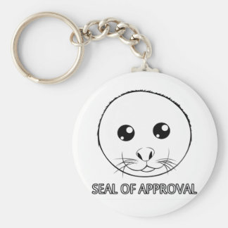 Seal of Approval Basic Round Button Keychain