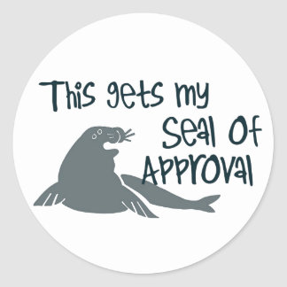 Seal of Approval Classic Round Sticker
