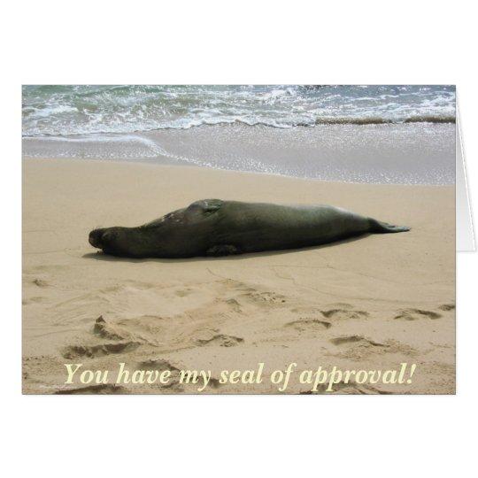 Seal of Approval - Kauai, Hawaii Card