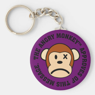 Seal of Approval: Message endorsed by Angry Monkey Basic Round Button Keychain