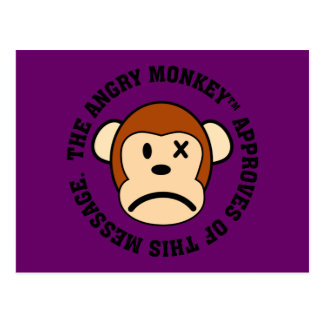 Seal of Approval: Message endorsed by Angry Monkey Postcard