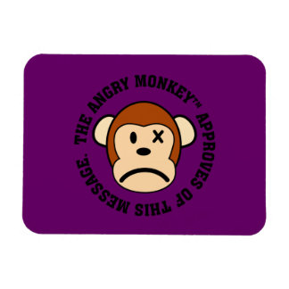 Seal of Approval: Message endorsed by Angry Monkey Rectangular Photo Magnet