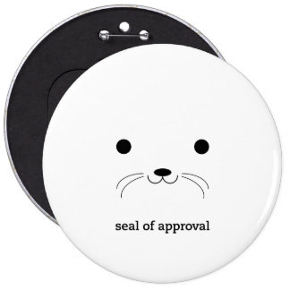 'Seal of Approval' Pinback Button