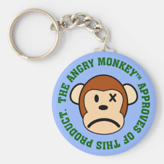 Seal of Approval: Product endorsed by Angry Monkey Basic Round Button Keychain