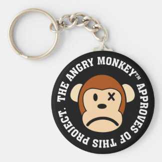 Seal of Approval: Project endorsed by Angry Monkey Basic Round Button Keychain